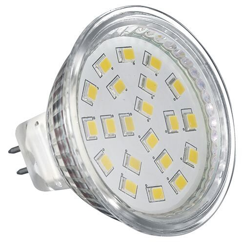 LAMPARA DE  LED  BASE GU53 LUMENS 200LM (3W EQUIVALE 25W) 127V CW 6500K MCA. FOSS