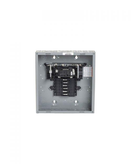 Caja con interior para centro de carga de 12 polos. 100 A. Monofásico. Con interruptor principal