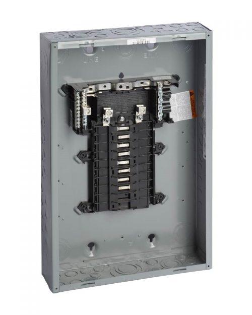 Caja con interior para centro de carga de 16 polos. 100 A. Monofásico. Con interruptor principal