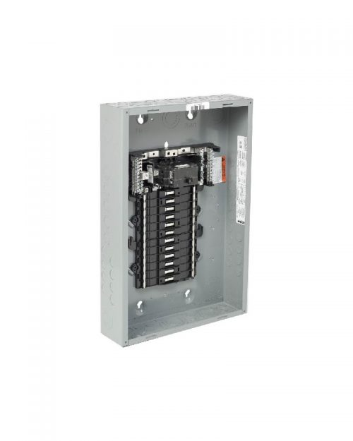 Caja con interior para centro de carga de 24 polos. 100 A. Monofásico. Con interruptor principal