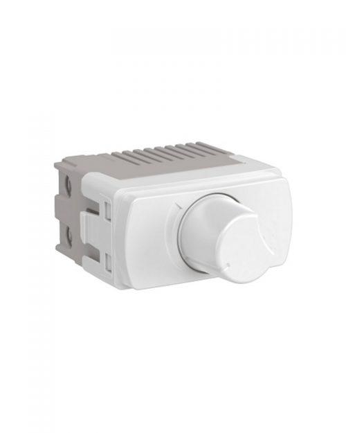 Dimmer giratorio para lamparas. 300W 127Vca. Blanco