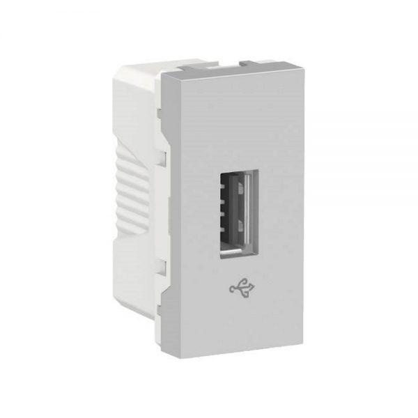 Toma USB 2.0 para transmisión de datos. Aluminio