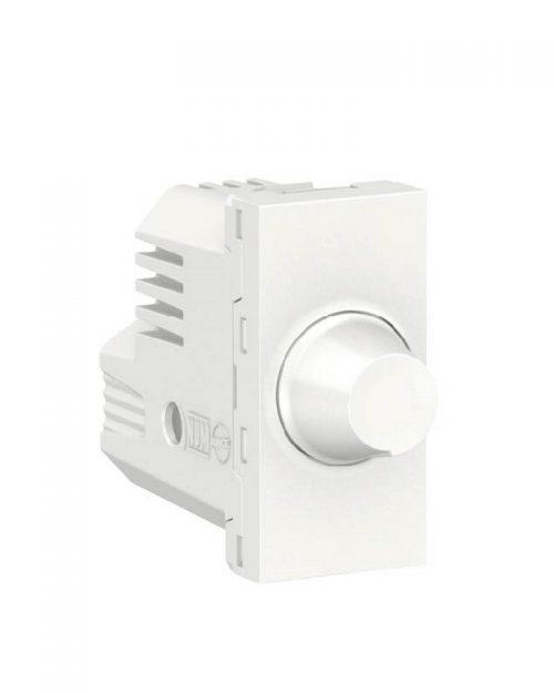 Dimmer giratorio para lamparas resistivas. 300W 127Vca. Blanco