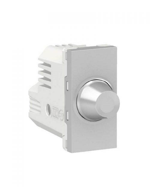 Dimmer giratorio para lamparas resistivas. 300W 127Vca. Aluminio