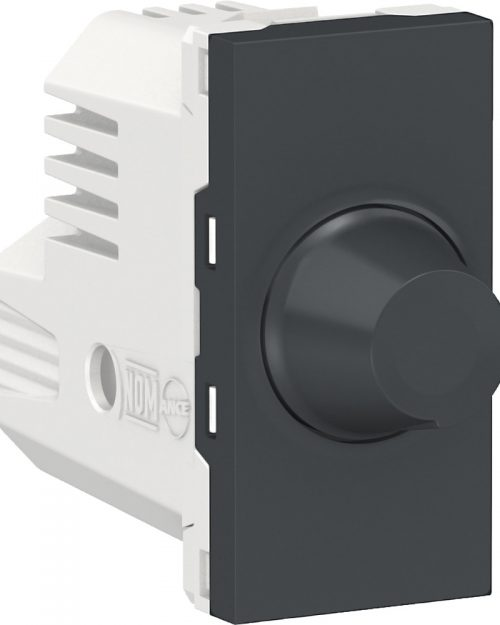 Dimmer giratorio para lamparas LED, 150W 127Vca. Grafito