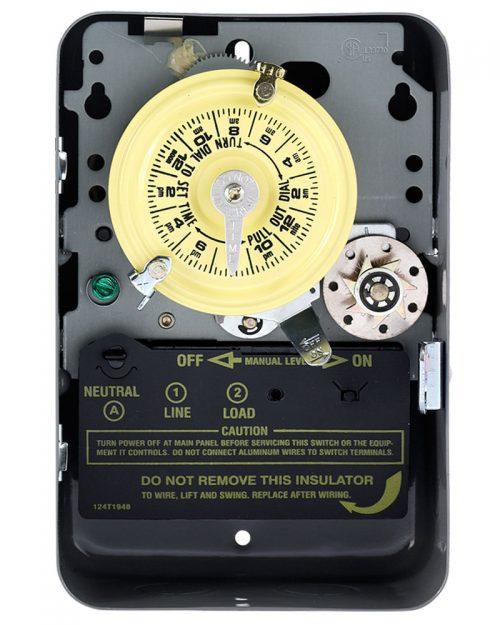 Interruptor de temporizador mecánico de 24 horas con salto de un día
