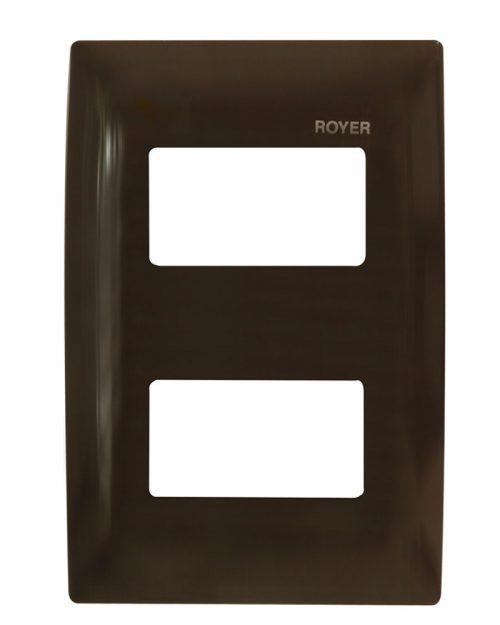 PLACA 2 MÓDULOS DISTANCIADOS CHOCOLATE | ROYER 100