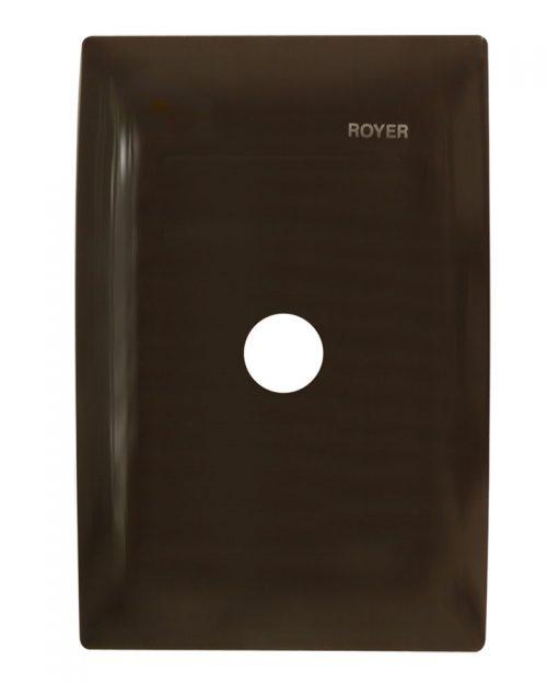 PLACA SALIDA DE CABLES CHOCOLATE | ROYER 100