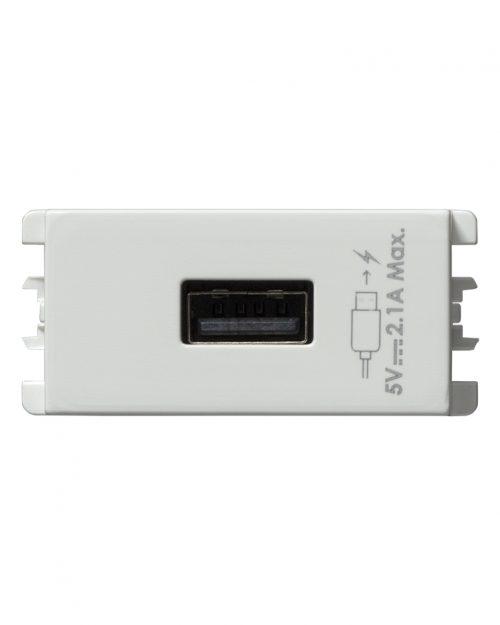 CARGADOR USB 1 MOD BLANCO S26 | Simon 26 | CODIGO 2601097-030