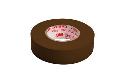 1700C CAFE  CINTA PVC TEMFLEX 1700 COLOR CAFÉ CON DIMENSIONES DE 19 MM X 20.1 METROS, MARCA 3M