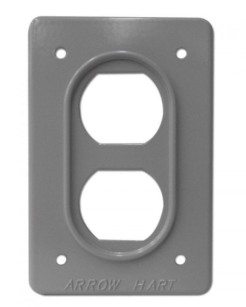 AH23 | PLACA DE ALUMINIO TIPO INDUSTRIAL COLOR PLATA | ARROW HART