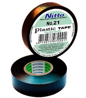 CINTA PARA AISLAR DE PVC No.21 19MM X 18 MTS COLOR NEGRO, MARCA NITTO