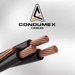 CABLE THWLS VINANEL-XXI CAL. 4 AWG. 600V. 90°C COLOR AZUL. MCA. CONDUMEX (CARRETE)