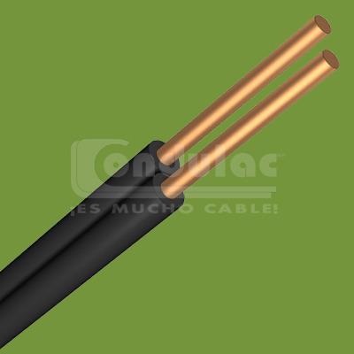 CABLE DUPLEX TIPO POT Y/O SPT DE 2 CONDUCTORES CAL. 18 AWG, BLANCO CONDULAC