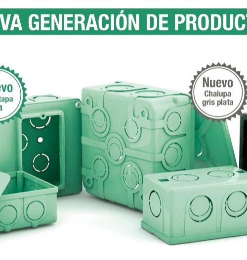 CAJA CUADRADA DE PVC DE 13MM (1/2) PVC