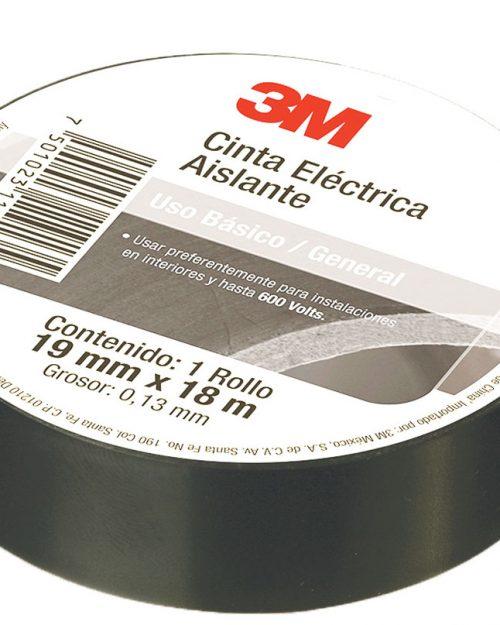 CINTA DE PVC USO BASICO GENERAL 18, DIMENSIONES DE .019 X18 METROS, MARCA 3M