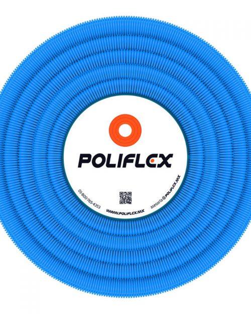 """Poliflex telecomunicaciones azul con guía plástica de 3/4"""" rollo con 50 m"""