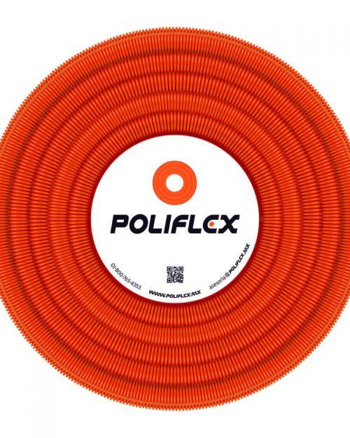 """Poliflex naranja con guía 1/2"""" rollo con 100 m"""