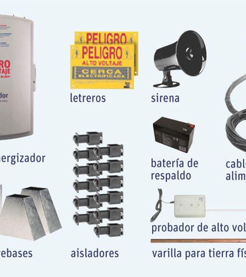 KIT COMPLETO DE CERCA ELECTRIFICADA PARA 20 MTS
