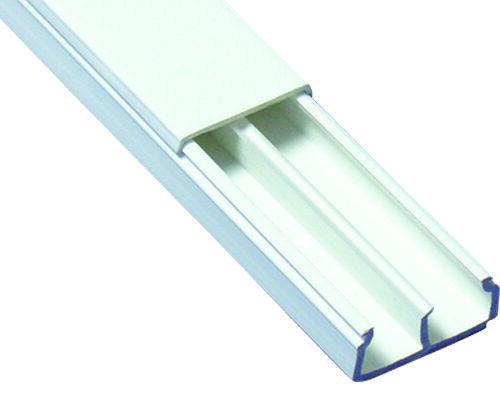 CANAL EN PVC DE 20X10X2500MMTIPO TMK BLANCO C/DIVISION