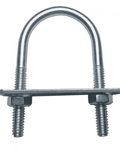 "Abrazadera Roscada U 120 de 100 mm ( 4 "" )   | ANCLO"