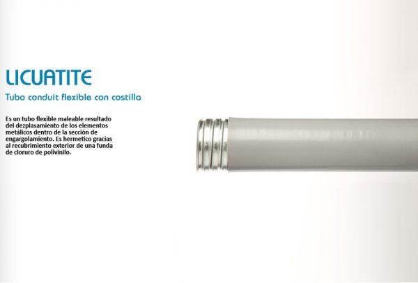 TUBO FLEXIBLE DE ACERO FORRADO DE PVC (LICUATITE) DE 32 MM (1 1/4) MARCA TUBOS MEXICANOS FLEXIBLES