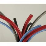 TUBO FLEXIBLE DE ACERO FORRADO DE PVC (LICUATITE) COLOR ROJO DE 13MM (1/2) MARCA TUBOS MEXICANOS FLEXIBLES