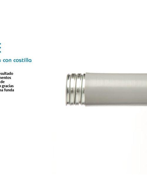 TUBO FLEXIBLE DE ACERO FORRADO DE PVC (LICUATITE) COLOR ROJO DE 13MM (1/2) MARCA TUBOS MEXICANOS FLEXIBLES