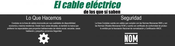CABLE CON AISLAMIENTO TIPO THW 10 AWG, 90° 600V. COLOR NEGRO MCA. CONDULAC (CARRETE)