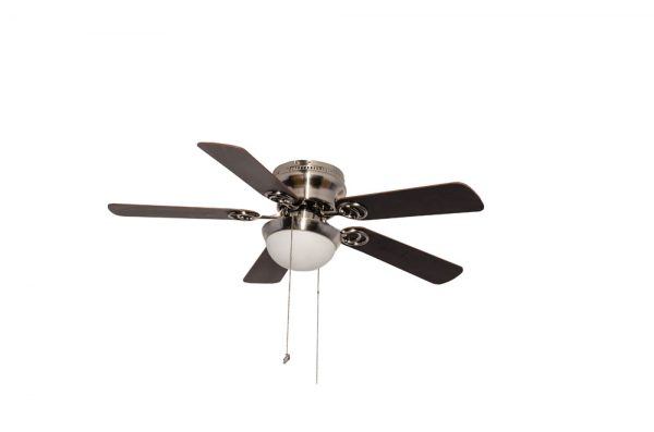 "VENTILADOR DECORATIVO 42"", SATINADO, P/PLAFON, 5 ASPAS DE MADERA, COLOR CHOCOLATE/MAPLE 