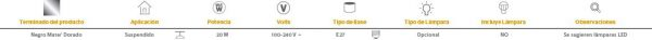 Agora | INTERIOR SUSPENDIDOS S/L100-240VE27 | Tecnolite