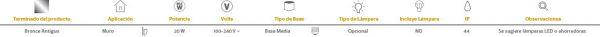 Ruso | EXTERIOR MURO S/L100-240VE27 | Tecnolite