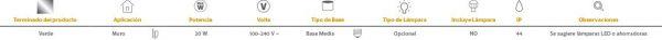 Salermo | EXTERIOR MURO S/L100-240VE27 | Tecnolite