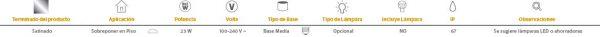 Altamira   EXTERIOR MINI POSTES S/L100-240VE27   Tecnolite