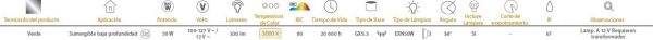 Denia | EXT SUMERGIBLES50W100-127/12V3000KGX5.3 | Tecnolite