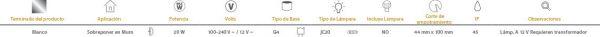 Castelo | EXTERIOR LUZ CORTESÍAS/L100-240/12VG4 | Tecnolite