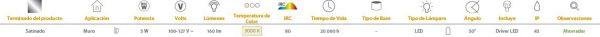 Abuya | EXTERIOR MUROS LED 5W4000K | Tecnolite