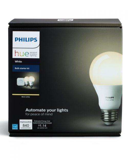 PHILIPS HUE KIT DE INICIO LAMPARA 9.5W SOLO BLANCO A19 E26 + BRIDGE