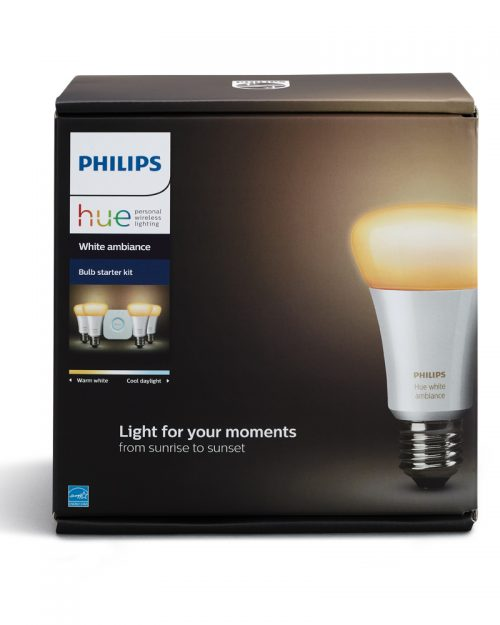PHILIPS HUE KIT DE INICIO CALIDO A FRIO 10W A19 E26 4 LAMP + BRIDGE