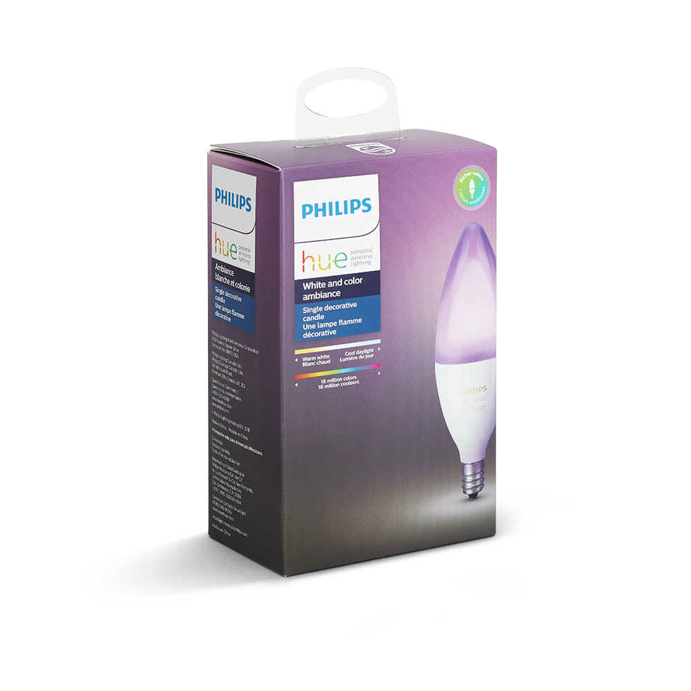 PHILIPS HUE 6W B39 E12 VELA COLORES